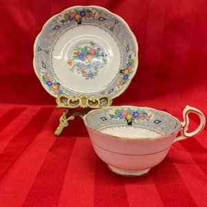 Royal Albert Crown China England Teacup and Saucer